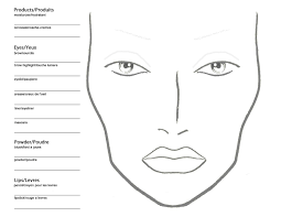 face template for makeup being a makeup artist free blank mac makeup chart