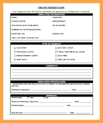 Personal Time Off Request Form Days Off Request Form Nanciebenson Co