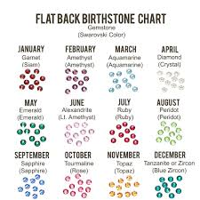 Birthstone Gemstone Chart 3 8mm Flat Back Crystal Setter Punch With Multi Pack Of Swarovski Birthstone Crystals 240 Pieces