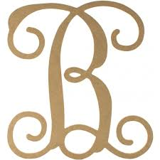 12 wood letter vine monogram b zoom