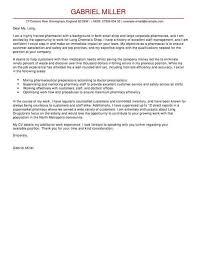 Job Chart Of Pharmacist 13 Application Letter For Pharmacist Job Cover Letter