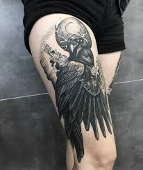 100 Ideas Of Raven Tattoo Designs August 2019 Bird Tattoos