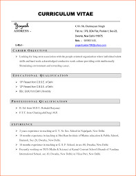 Resume For Job Examples And Samples Mr Sample New Employment