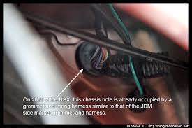 diy honda oem side marker lights install guide (video included Wire Grommets Rubber Harness Trimming at Wire Harness Grommet Rsx