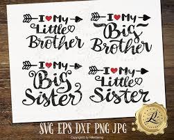 Kleine Schwester Svg Kleiner Bruder Svg Große Schwester Svg Etsy