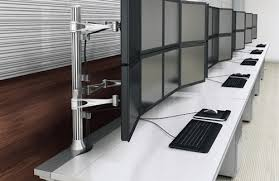 high tech office furniture. High Tech Ergonomic Monitor Arms Office Furniture