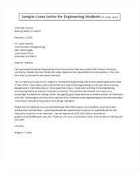 Cover Letter Internship Engineering Student Primeliber Com