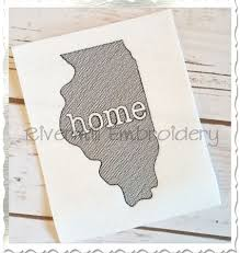 Sketch Style Illinois Home Machine Embroidery Design From - Home machine embroidery designs