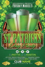 Green Party Flyer St Patrick Day Party Flyer Template