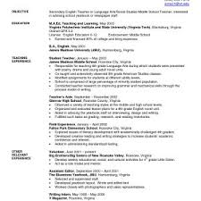 Secondary Teacher Resume Examples