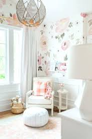 baby girl nursery wallpaper palm accent walls secret pink vs for room  design best feature murals . baby girl nursery wallpaper ...