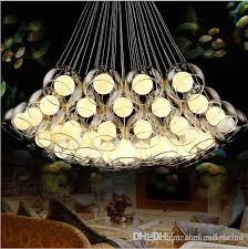 modern art glass chandelier led pendant light for living room bar ac85 265v g4 bulb hanging glass pendant lamp fixtures lighting direct pendant lights from