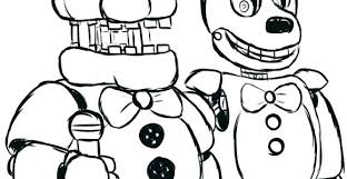 Fnaf Coloring Pages Coloring Newest Games