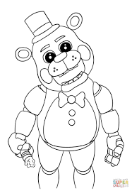 Five Nights At Freddy Coloring Pages Unique Collection Of Golden