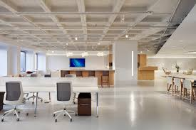 open plan for office work space elegant white finish stained wooden desk stained brilliant office work table