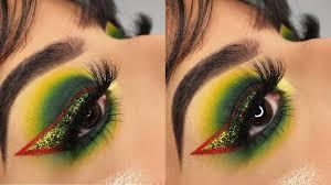 the grinch inspired eyeshadow tutorial