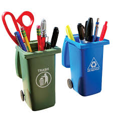 cool office supplies. Inspiring Recycling Can Pencil Hers Novelty Office Supplies Together With Zoom Trash In Cool