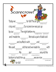 Fall Mad Libs for Kids Fall Mad Libs - Scarecrow – Classroom Jr ...