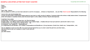 ticket counter offer letter
