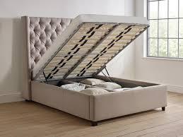elise upholstered short headboard storage bed  living it up