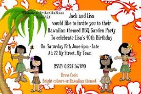 Tropical Party Invitations Personalised Hawaiian Luau Tropical Party Invitations Birthday