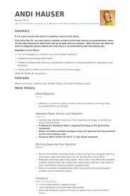 News Reporter Resume Samples Visualcv Resume Samples Database