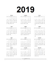 Calendario In Formato Word Del 2019