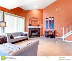 Orange Living Rooms Minimalist Orange Living Room Royalty Free Stock Photos Image