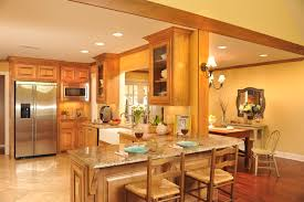 Kitchen Family Room Decorating Room With Vaulted Ceiling Recent Open Kitchen Design