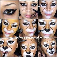 tutorial cheetah makeup with motives for kids