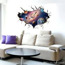 wall arts designs girls room wall art cracked space wall decal sticker kids boys girls