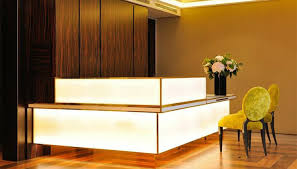baume paris hotel check in desk furnished in the same luxury style