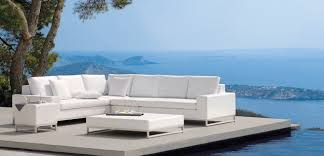 Outdoor Lux White Sofa Modern Patio Furniture And Outdoor