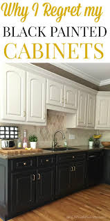 find out why i regret painting all my lower kitchen cabinets black over to