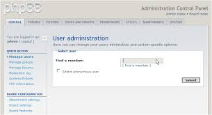 how to edit a user s profile in phpbb