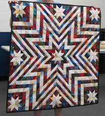 Exploding Star Quilt Pattern Free   pattern found in