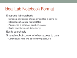 Lab Notebook Format Lab Notebooks A Librarians Primer