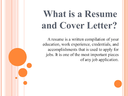 What Is A Resume For Jobs of Resume and Cover Letter 53
