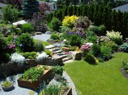 Small Picture Backyard Landscape Creations Large Projects Gardening Glasgow