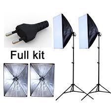 photography studio soft light reflective material softbox light kit continuous lighting softbo european power supply