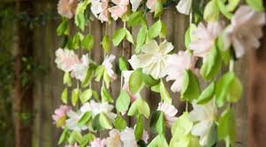Paper Flower Backdrop Garland Paper Wedding Crafts Make A Flower Garland Backdrop By Lia Griffith