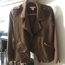 jemmawest 26 days ago ascot united kingdom brown suede leather style jacket h and m