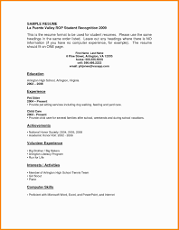 16 Resume Template For College Student With No Work Experience