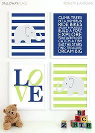 nursery wall art boy baby boy nursery art prints chevron elephant playroom art kids boys wall nursery wall art
