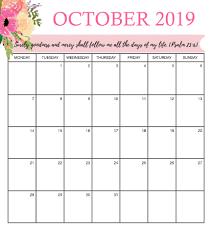 Best 2019 Calendar Design Best October 2019 Calendar Design
