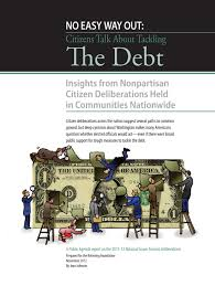 public thought and foreign policy essays on public deliberations no easy way out citizens talk about tackling the debt