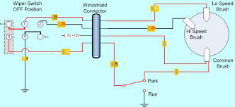 wiper wiring science remember that the park switch is down 90% of the time and is completely out of the circuit for the low and high switch positions