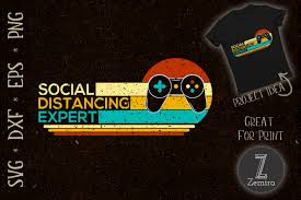 Really masl great looging imaes svgur.com. Social Distancing Expert Video Gamer Graphic By Zemira Creative Fabrica