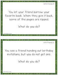 FREE social skills problem solving task cards.   TpT FREE LESSONS ...