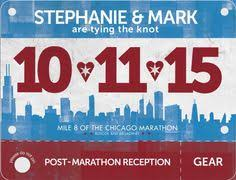 runner race bib save the date wedding invitation perfect for a Running Themed Wedding Invitations chicago marathon wedding invitation race bib chicago marathon wedding running theme Medieval Wedding Invitations